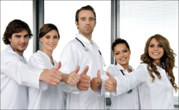 happy healthcare staff
