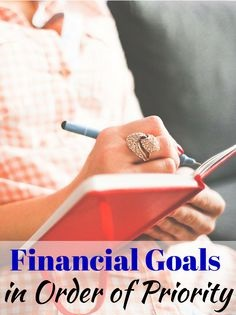 Prioritise your finances